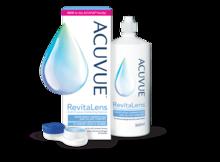ACUVUE® RevitaLens: emballage, flacon et étui pour les lentilles